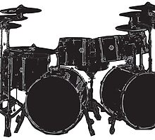 Drum Kit by amanda metalcat