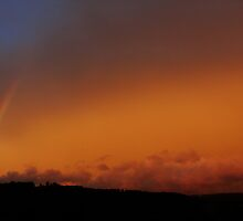 Sunset with Rainbow by Brevis