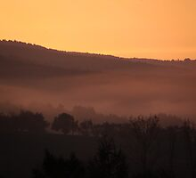 sunrise with fog  by Brevis