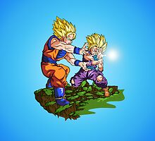 DragonBall Z Gohan and Goku Kamehameha by 23mgab