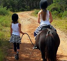 2 little girls had 1 little horse by Franglais