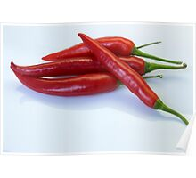 Red hot spicy peppers for you Poster
