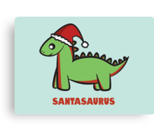 Santasaurus  Canvas Print