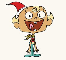 Merry Christmas From Flapjack by Louise Harrington