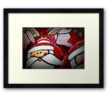 Santa Balls Framed Print