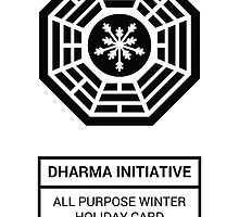 Dharma Initiative All Purpose Winter Holiday Card by Charles Flanagan