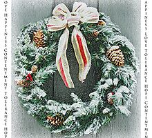 Christmas Wreath Greeting Card by pjphoto181