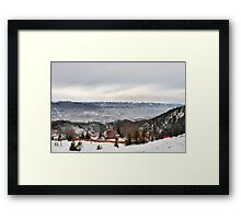 Snowy Mountains Landscape Framed Print
