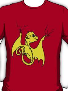 Yellow Baby Dragon Rider T-Shirt