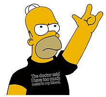 Homer Simpson - Too Much Heavy Metal by NejiHyugguh