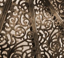 Texture: Ye Olde Sweet Shop's iron stair case by biddumy