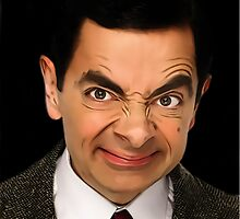 Mr. Bean Funny Face by NicCaridi