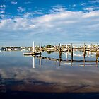 Jetty on the Mooloolaba River by Renee Hubbard Fine Art Photography