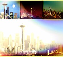 Funky Space Needle Collage by stine1