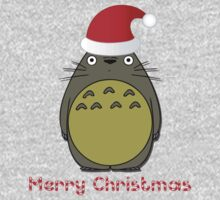 Merry Christmas Totoro T-Shirts & Hoodies by mike desolunk