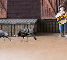 It's a trick…run!!!!  When he said 'turkey wraps', he wasn't getting us coats!!!! by Susan Littlefield