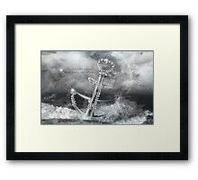 Don't let these waves wash away your hopes. Refuse to sink! Framed Print