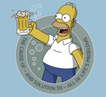 "The Simpsons - Homer 's Beer ""The cause of -  and the solution to - all of life's problems"" by elPotto"