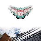 Liverpool badge montage and Shankly gates by Paul Madden