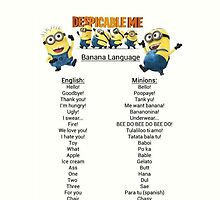 Minions Language  by Jake Atlass