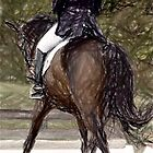 Dressage Horse Portrait by Oldetimemercan