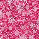 Doodle snowflakes pattern by oksancia