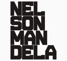 RIP Nelson Mandela Black Ink by FreshThreadShop