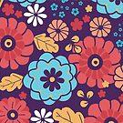 Colorful bouquet flowers pattern by oksancia