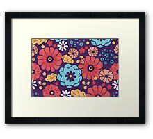 Colorful bouquet flowers pattern Framed Print