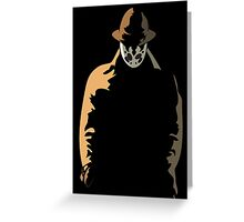 Rorschach  in the Shadows Greeting Card