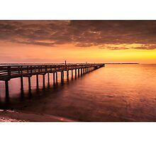 Sunset/sundusk over harbor Photographic Print