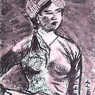 Vietnam fighting Woman by Christopher  Raggatt