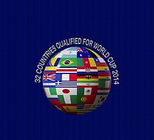 32 Countries Qualified For World Cup 2014 by V-Art