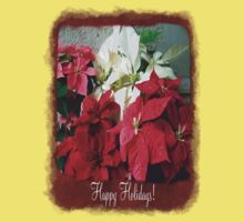 Mixed color Poinsettias 3 Happy Holidays P5F1 Kids Clothes