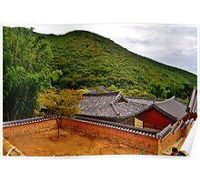 Korean Temple Poster