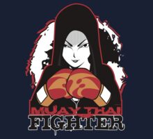 Muay Thai Girl Fighter Kids Clothes