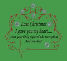 Last Christmas I gave you my heart....but your body rejected the transplant and you died by MoonFetus