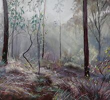 A Wickham Misty Morning by Lynda Robinson