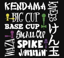 Kendama Word Block, white by gotmoxy
