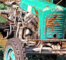 Old traditional Lindner tractor | conceptual photography Sticker