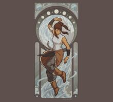 Korra - Art Nouveau Avatars by swadeart