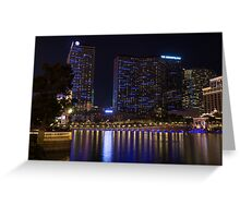 Cosmopolitan Vegas Reflections Greeting Card