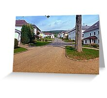 Picturesque small village center   architectural photography Greeting Card