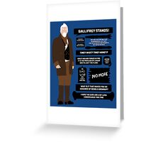 War Doctor Quotes Greeting Card
