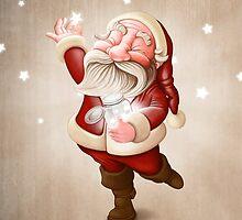 Santa Claus collects stars by jordygraph