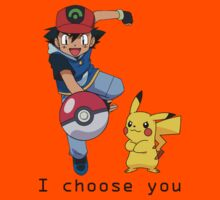 I choose you! - Ash and Pikachu by PinkiexDash