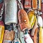 Downeast Buoys by Richard Bean
