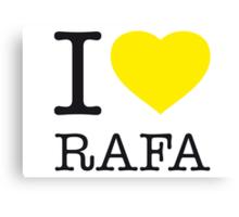 I ♥ RAFA Canvas Print