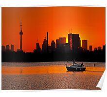 Sunset Sail Ashbridges Bay Toronto Canada Poster