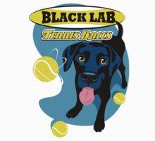 Labrador Retriever with Tennis Balls T shirt- original art by DKMurphy